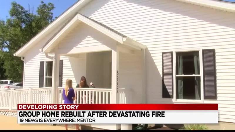Mentor group home rebuilt after devastating fire
