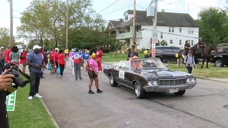 Residents attend the 49th annual Cleveland Labor Day parade.