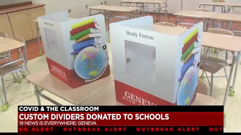 Geneva native donates customized safety dividers to students in Geneva-Area City Schools