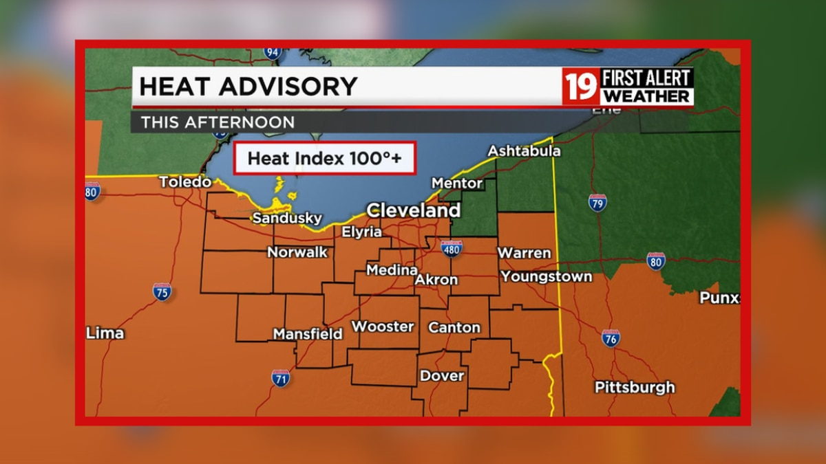 Heat Advisory issued for Thursday afternoon