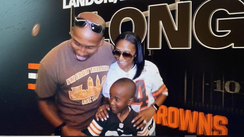 Landon, Lorin, and Micah Long enjoying Browns pre-game, making a Hype Cam video