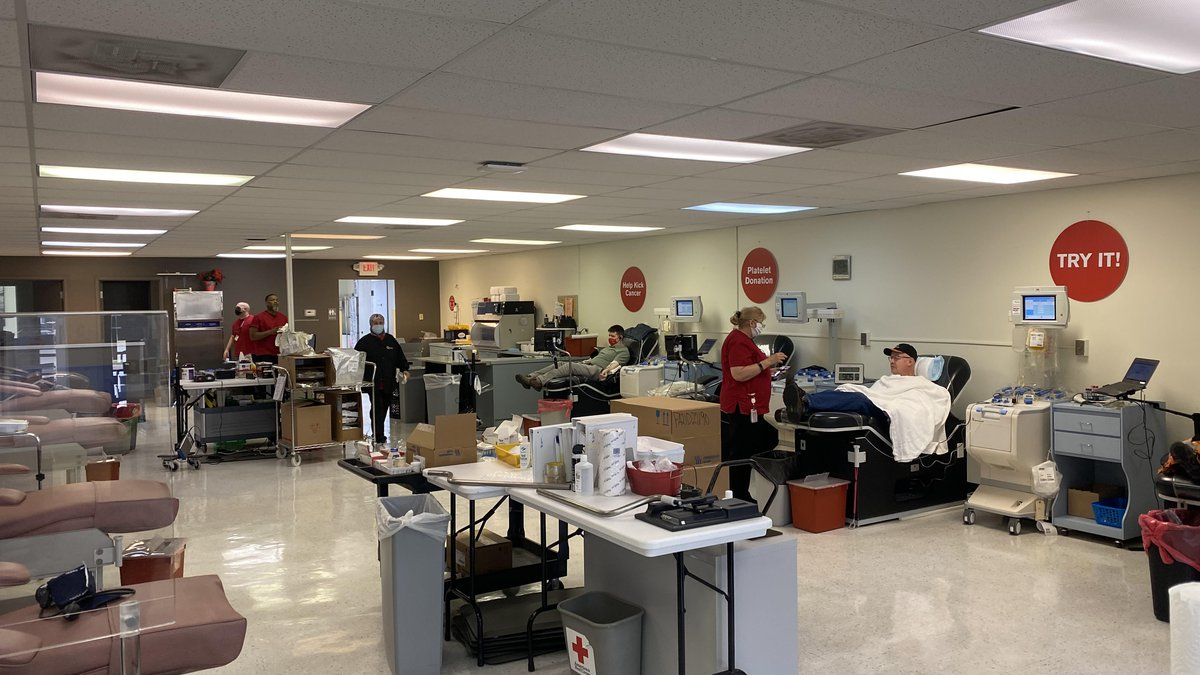 The Red Cross will give out hats at places like its Parma Blood Donation Center to get donors...