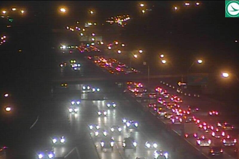 Traffic delays on I-77 NB at E. Archwood Avenue due to crash