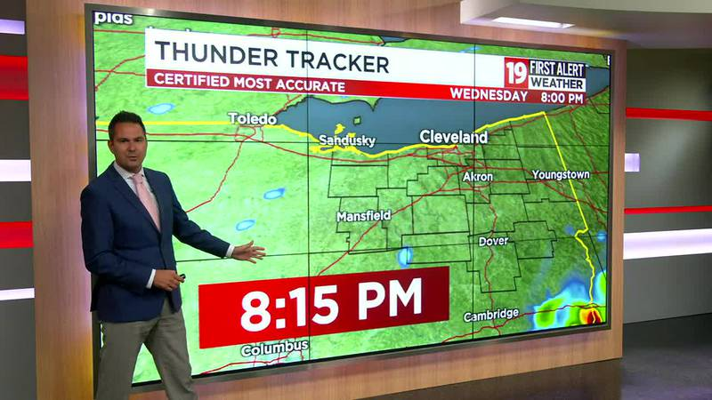 Northeast Ohio weather: Cooler on Wednesday with a risk of showers, storms for some