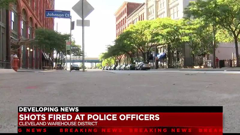 Cleveland Police searching for suspect who fired shots at officers on West 6th