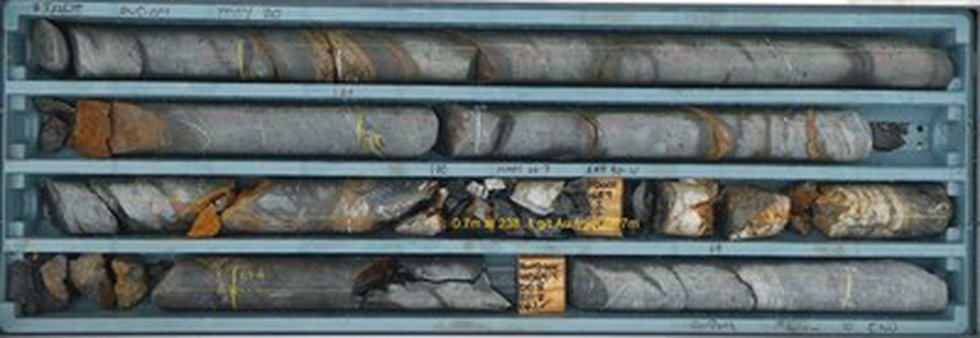 Figure 2 – Drill Core from RWD01 from 66.7m to 70.1m (CNW Group/Fosterville South Exploration...