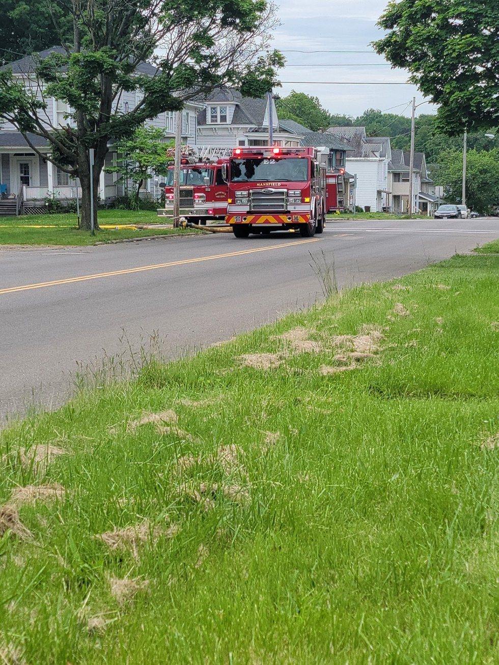 Five residents were pulled from a burning home on Arthur Avenue.