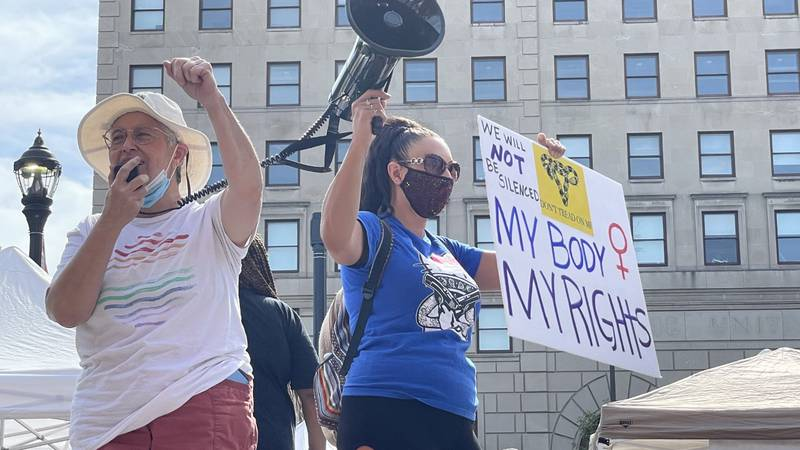 Speakers and demonstrators rallied for women's rights Saturday at the 6th annual Cleveland...