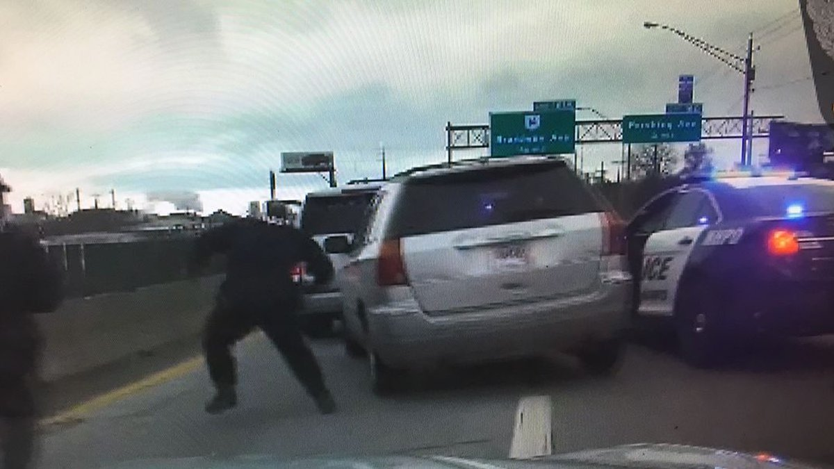 On Friday, Imani Edwards is accused of running from police, ramming their vehicle and taking...
