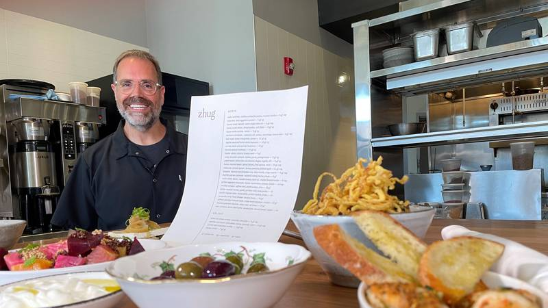 Chef Douglas Katz, of Zhug, offers a mezze menu of small plates common in the Mediterranean and...