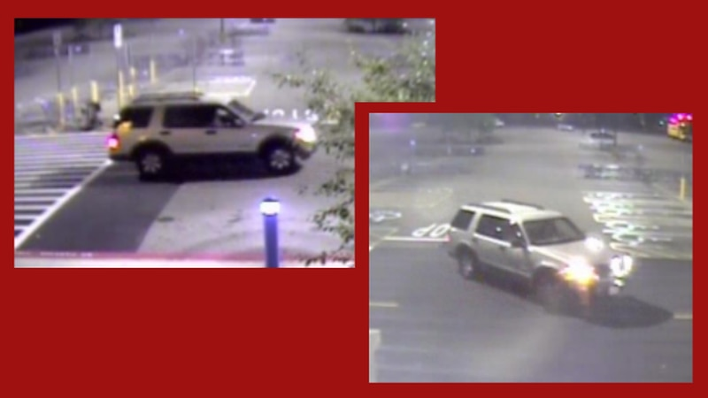 Stow police are searching for a suspect vehicle after shots were fired at the Walmart early...