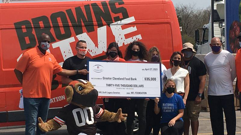 The NFL donated $35,000 to The Greater Cleveland Food Bank to fight food insecurity