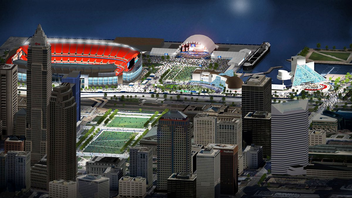 NFL Draft renderings in Cleveland