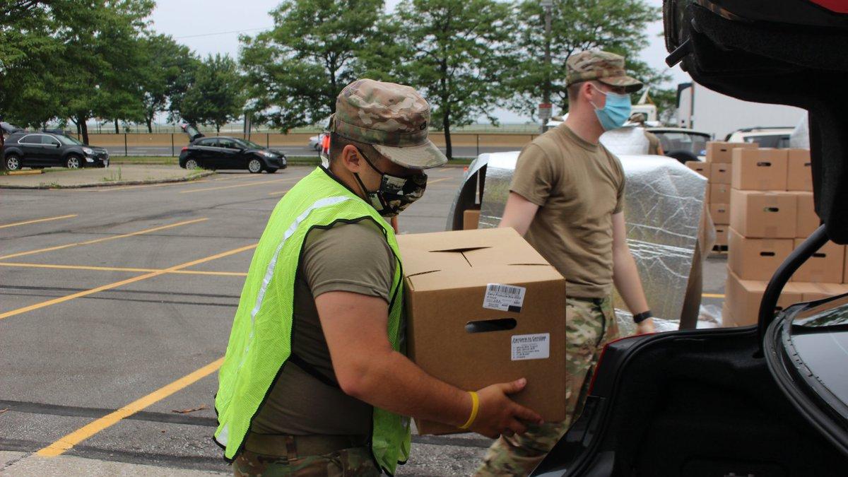 Greater Cleveland Food Bank hosting drive-thru distribution in Muni Lot.