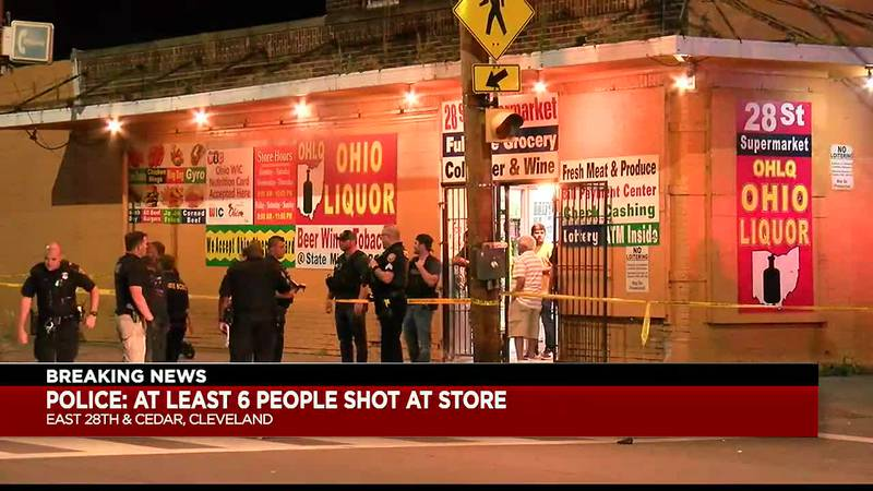 6 people shot in Cleveland at East 28th and Cedar Avenue