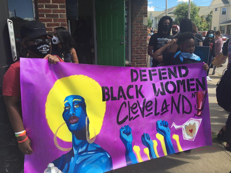 Hundreds showed up for the #DefendBlackWomen march in Cleveland