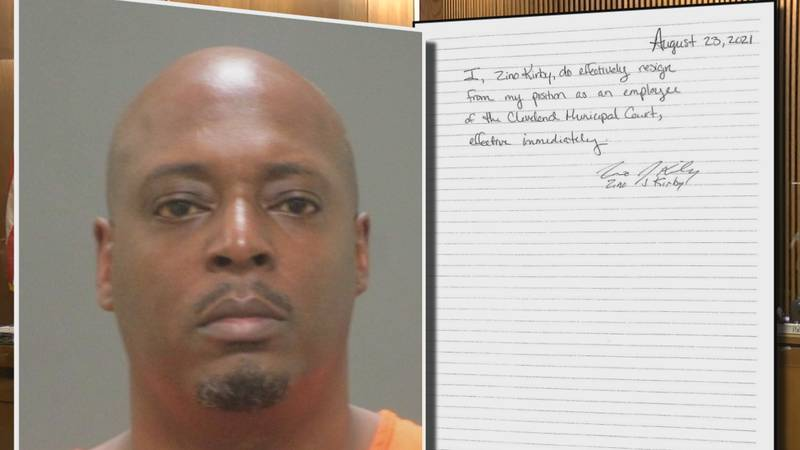 Zino Kirby resigned as a Cleveland Municipal Court employee after he was charged with rape for...