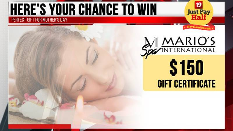 Chance to win $150 Mario's Gift Certificate