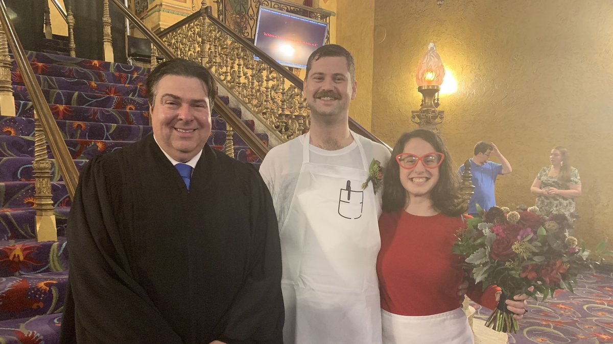 Tony and Dory Martin participated in a Halloween-themed wedding in 2019 at the Akron Civic...