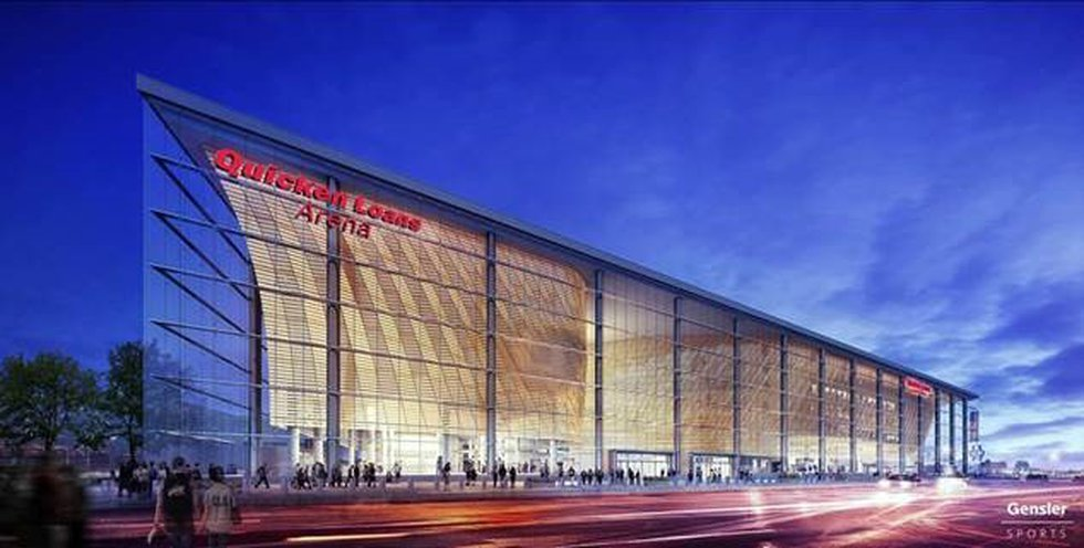 Exterior renovations of the Quicken Loans arena will not be complete until 2019