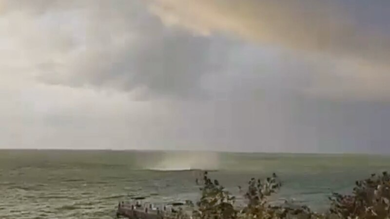 Tuesday's storms brought rain, wind, overcast skies...and a waterspout.