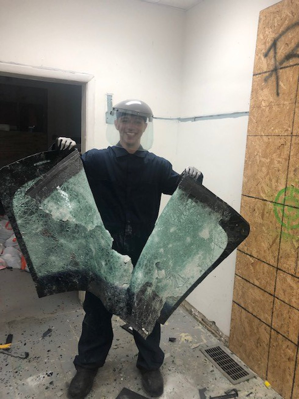 Rage Room Ohio, in Akron, offers participants an opportunity to smash things to get out their...