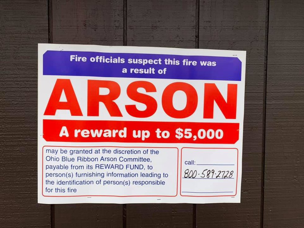 Ohio State Fire Marshal offers $5,000 reward for information on arson set at Pearl's Cafe in Lodi