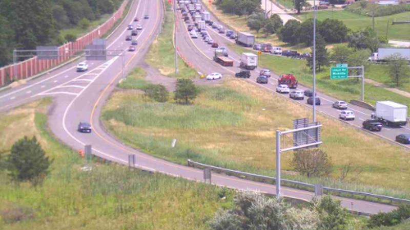 Slow traffic on I-90