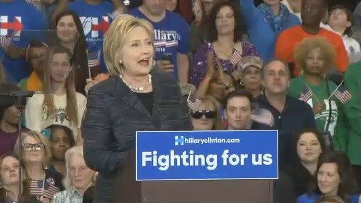 Hillary Clinton to campaign at Kent State, Cincinnati. (Source: WOIO)