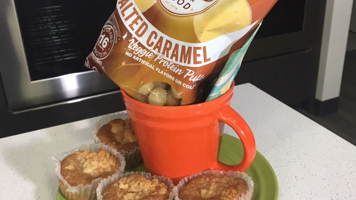 Veggie protein puffs developed by a local company