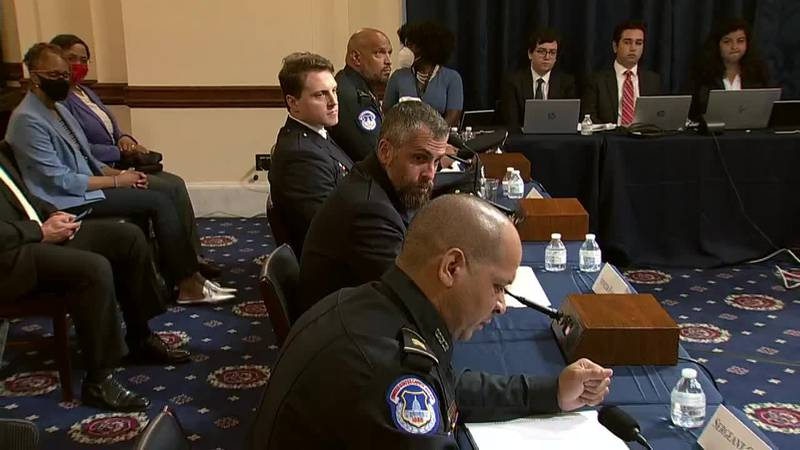 Police officers gave emotional testimony as the House Select Committee investigating the Jan. 6...