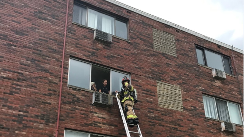 A devastating fire ripped through a Richmond Heights apartment Friday, necessitating ladder...
