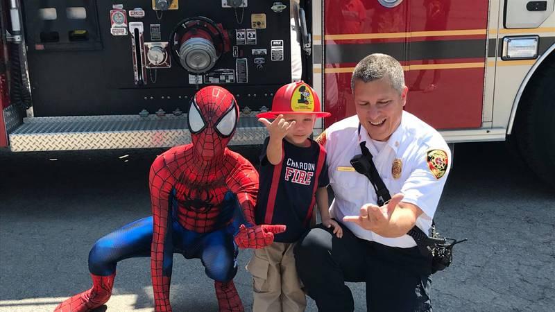 Chardon boy battling cancer sworn in as honorary firefighter
