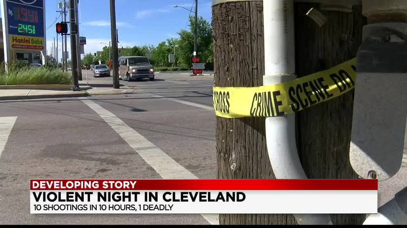 10 people shot within 10 hours in Cleveland
