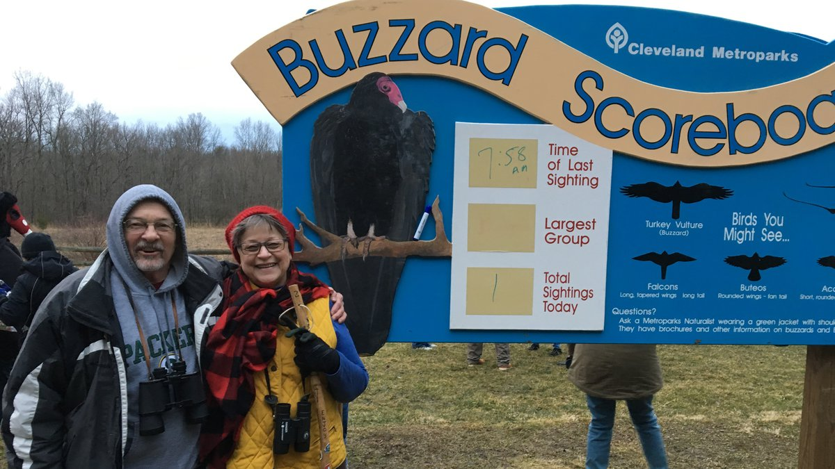 George and Suzy Graham came from Rockford, Illinois to be a part of buzzard sighting day in...