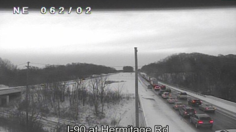 Accident shuts down I-90 Eastbound in Lake County; causing traffic delays