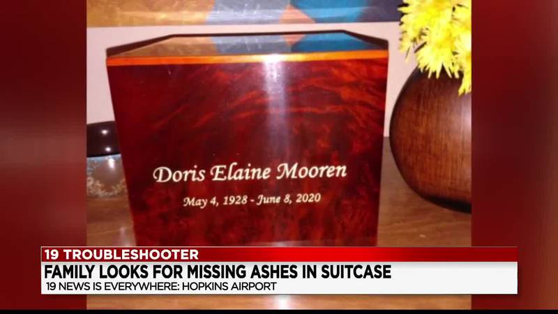 Suitcase carrying woman's ashes lost at Cleveland Hopkins International Airport; family pleas...