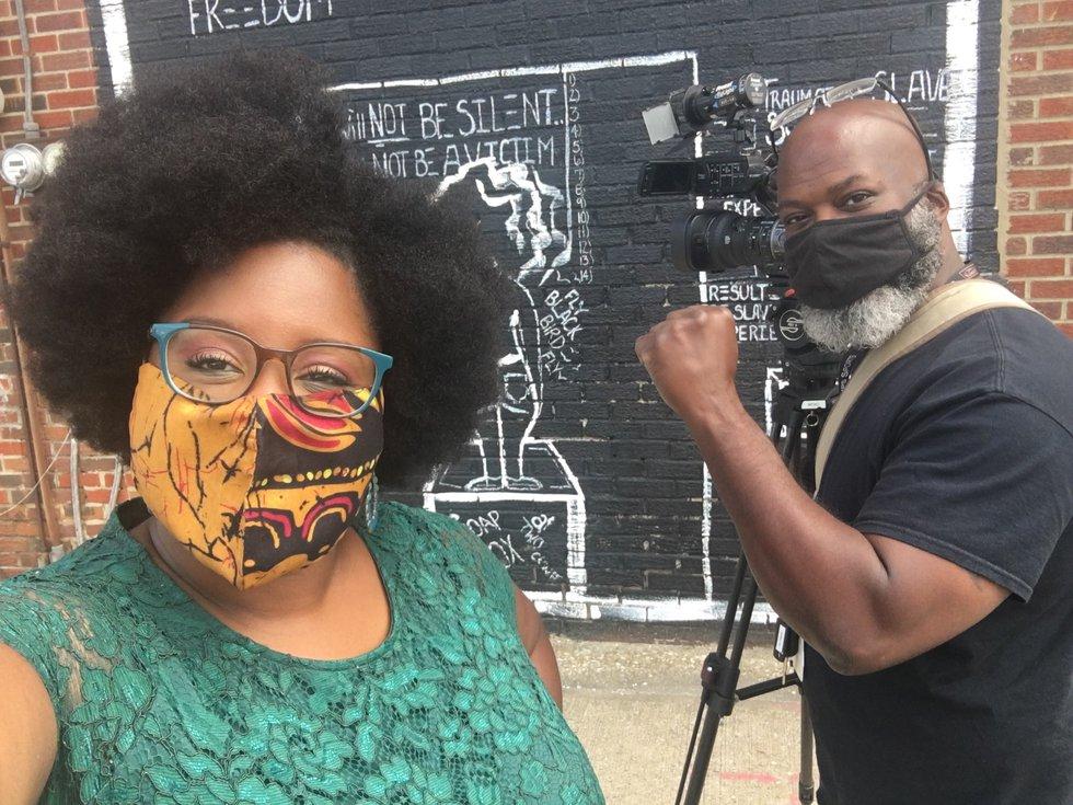 19 News Reporter Sia Nyorkor and Photographer Al Taylor on the scene at the #DefendBlackWomen...