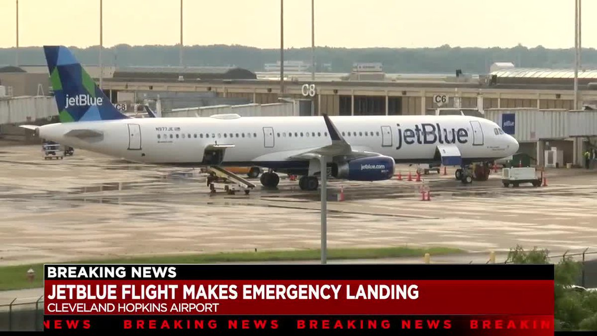 Plane carrying 153 passengers lands safely at Cleveland Hopkins International Airport after...