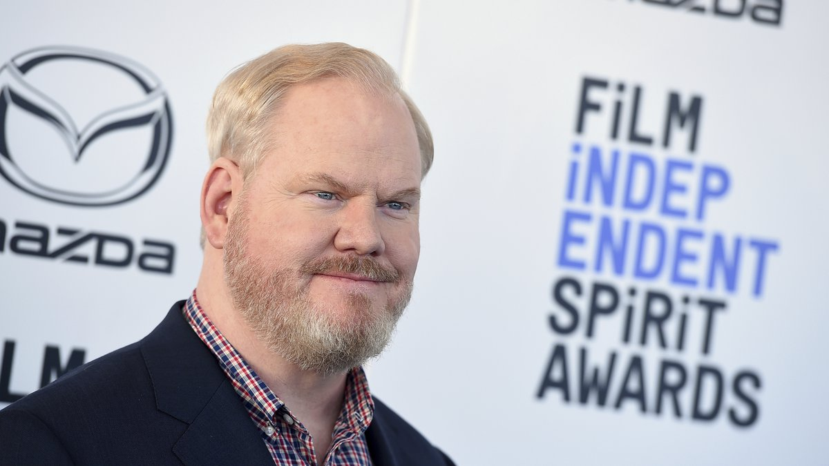 Jim Gaffigan arrives at the 35th Film Independent Spirit Awards on Saturday, Feb. 8, 2020, in...