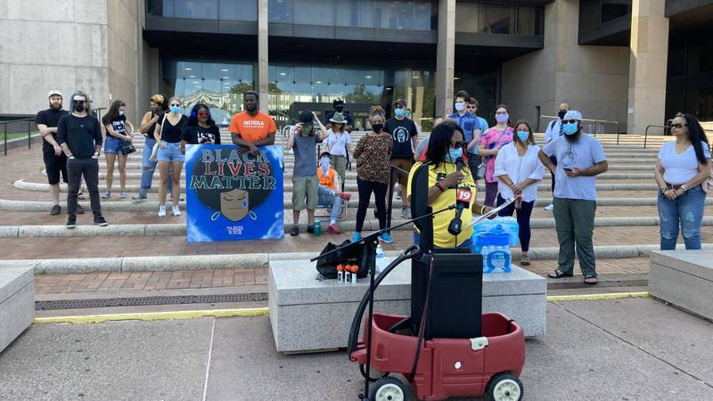 Black Lives Matter Cleveland protests conditions at Cuyahoga County Jail