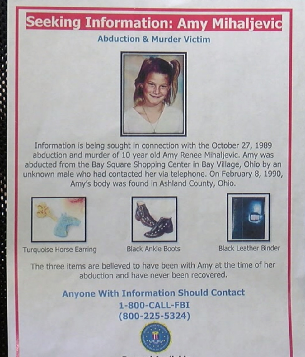 When Amy's body was found, certain items were missing. This is the flyer for the items missing:...