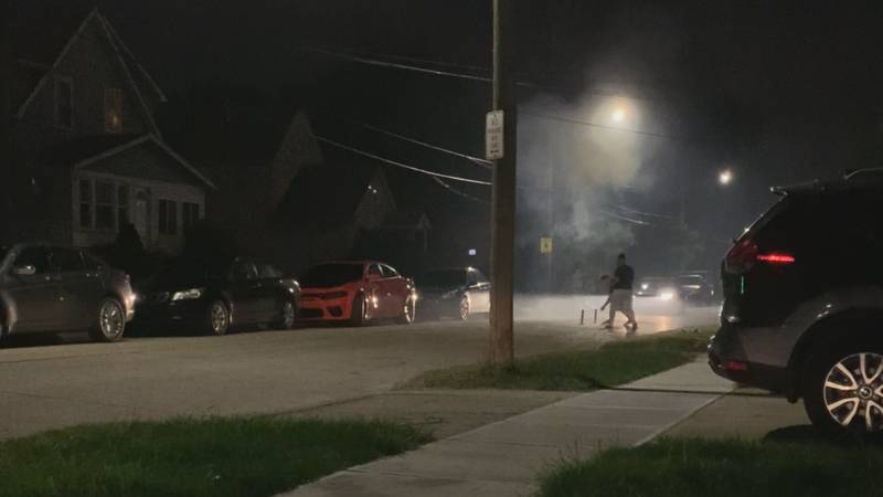 A neighbor captured video of a resident setting off illegal fireworks in the middle of Longmead...