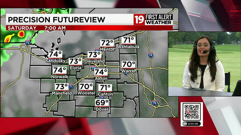 Northeast Ohio weather: Showers, storms in the area on Friday and Saturday