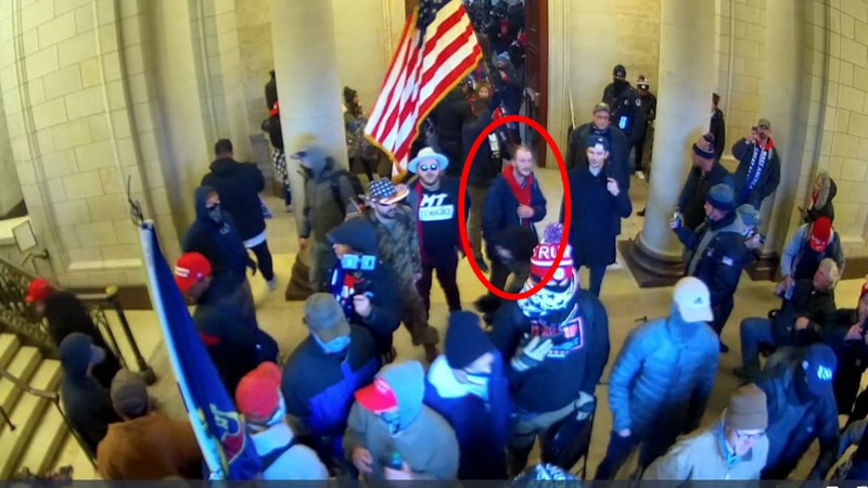 Ethan Seitz charged with 3 counts for allegedly taking part in the Capitol riot