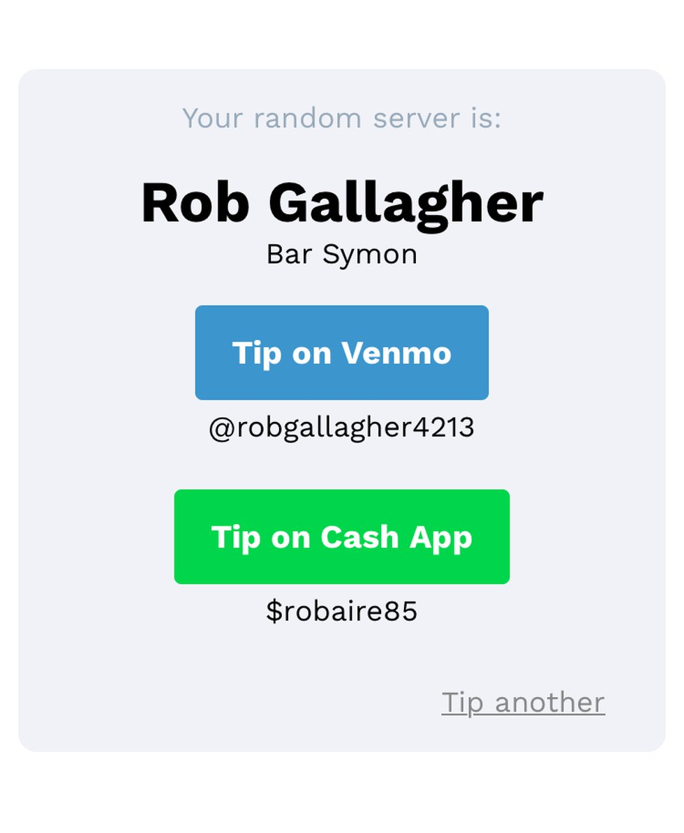 Servers unemployed due to the Coronavirus are receiving tips through a virtual tip jar.