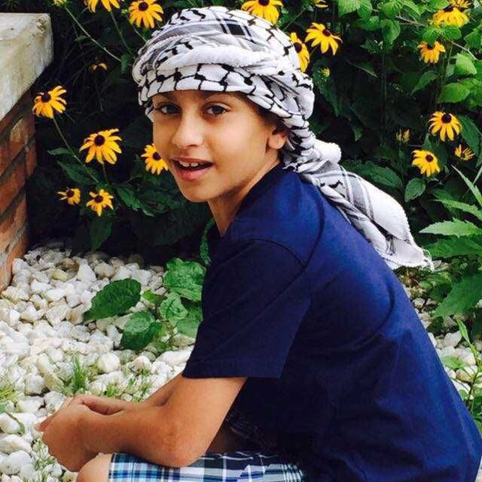 A photo of 12-year-old Abdel Bashiti who was shot and killed just outside his family's store.