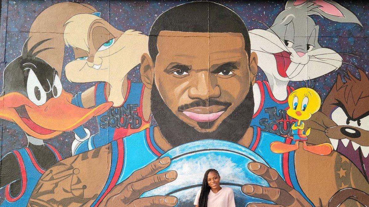 LeBron James mural in Akron