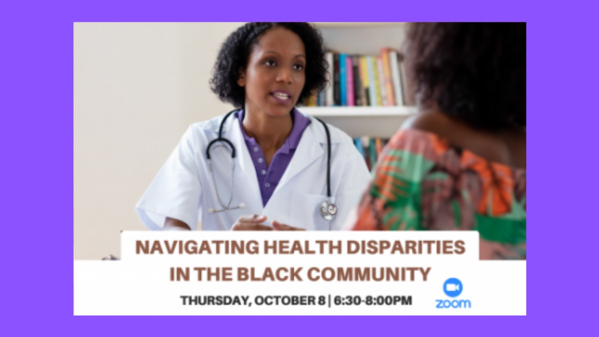 Dr. Charles Modlin is presenting a Zoom event on health disparities in the Black community...