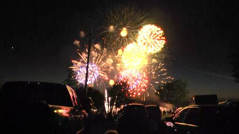 In this file photo, fireworks after the annual concert at Watertown's Thompson Park, held to...